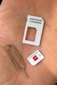 3サイズに対応したSIMカード